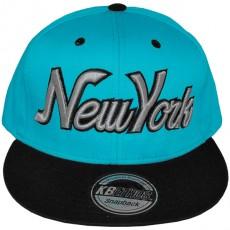 Casquette Snapback KB Ethos - New York - Turquoise / Noir