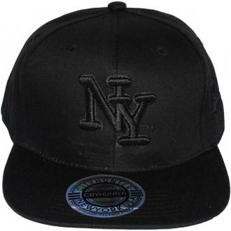 Casquette Snapback City Hunter - NY - Black on black