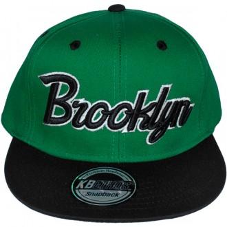 Casquette Snapback KB Ethos - Brooklyn - Vert / Noir