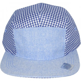 Casquette 5 Panel City Hunter - Cotton 5 Panel - Vichy Bleu