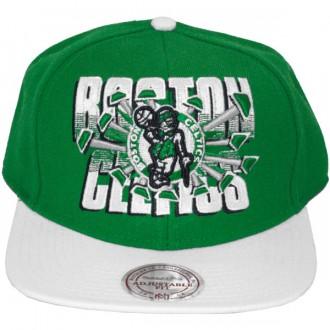 Casquette Snapback Mitchell & Ness - NBA Backboard Beak - Boston Celtics