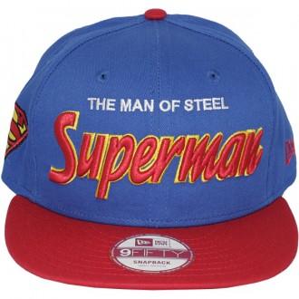 Casquette Snapback New Era x DC Comics - 9Fifty Hero Script - Superman