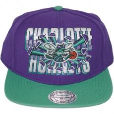 Casquette Snapback Mitchell & Ness - NBA Backboard Beak - Charlotte Hornets