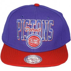 Casquette Snapback Mitchell & Ness - NBA Reverse Stack - Detroit Pistons