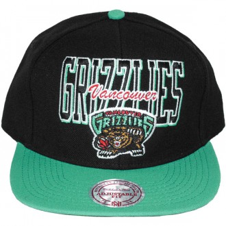 Casquette Snapback Mitchell & Ness - NBA Reverse Stack - Vancouver Grizzlies
