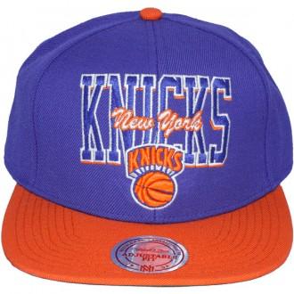 Casquette Snapback Mitchell & Ness - NBA Reverse Stack - New York Knicks