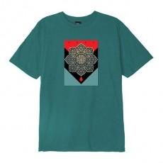 T-Shirt Obey - Blood & Oil Mandala - Flesh Teal
