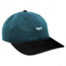 Casquette 6 Panel Obey - 90's Jumble 6 Panel Snapback - Dark Teal / Black