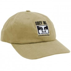 Casquette 6 Panel Obey - International 6 Panel Snapback - Khaki