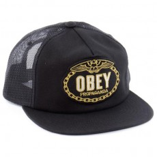 Casquette Trucker Obey - Chains Trucker - Black
