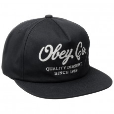 Casquette Snapback Obey - Quality Dissent Snapback - Black