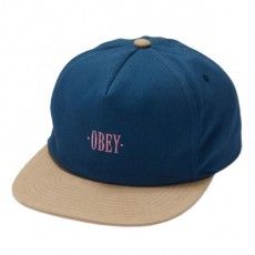 Casquette Snapback Obey - Jungle Snapback - Shark Blue / Light Khaki