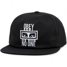 Casquette Snapback Obey - Obey No One Snapback - Black