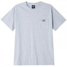 T-Shirt Obey - All Eyez Pocket Tee Short Sleeve - Heather Grey