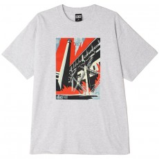 T-Shirt Obey - Obey Fossil Factory - Heather Grey