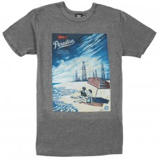 T-Shirt Obey - Paradise Turns - Heather Grey