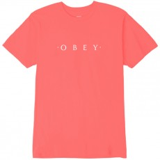 T-Shirt Obey - Novel Obey - Coral