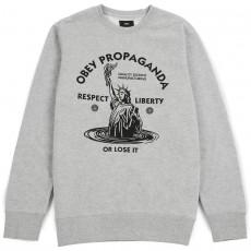 Sweatshirt Obey - Lady Liberty Crew - Heather Grey