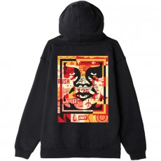 Sweat Capuche Obey - Obey 3 Face Collage - Black