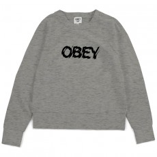Sweat Shirt Femme Obey - Static Age - Heather Grey