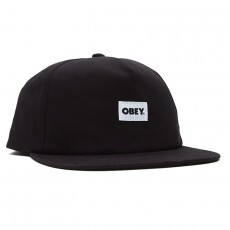 Casquette Snapback Obey - Bold Label Organic Snapback - Black