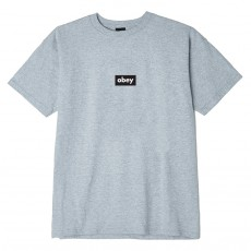 T-Shirt Obey - Obey Black Bar - Heather Grey