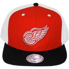 Casquette Snapback Mitchell & Ness - NHL Flat Visor - Detroit Red Wings