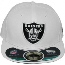 Casquette Fitted New Era - 59Fifty NFL On Field - White - Oakland Raiders