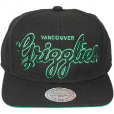 Casquette Snapback Mitchell & Ness - NBA Blackout Script - Vancouver Grizzlies