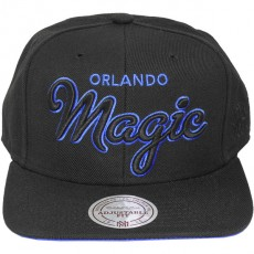 Casquette Snapback Mitchell & Ness - NBA Blackout Script - Orlando Magic