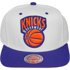 Casquette Snapback Mitchell & Ness - NBA XL White Crown 2Tone - New York Knicks