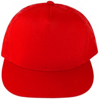 Casquette Filet Yupoong - Unie rouge