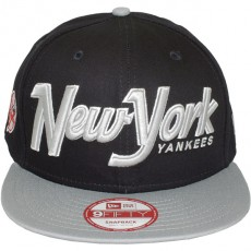 Casquette Snapback New Era - 9Fifty MLB Snapitback2 Black/Grey - New York Yankees