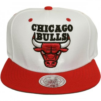 Casquette snapback mitchell ness nba classic white red - Casquette chicago bulls pas cher ...