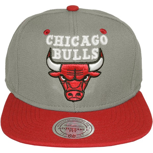 Casquette snapback mitchell ness nba classic grey red - Casquette chicago bulls pas cher ...