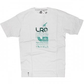 LRG T-shirt - An L-R-G Peace Knit - White