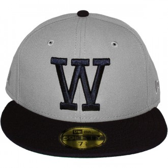 Casquette Fitted WESC x New Era - 59Fifty W - Grey / Blue