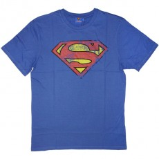 T-shirt DC Comics - Superman logo used - bleu