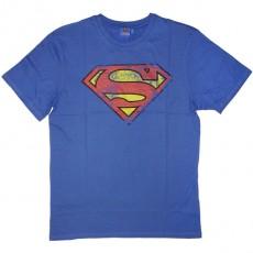 T-shirt DC Comics - Superman logo used - bleu