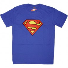 T-shirt DC Comics - Superman logo - bleu