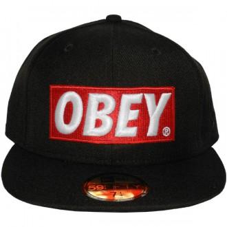 joli design faire les courses pour pas de taxe de vente Casquette Fitted Obey x New Era - Classic Material - Black