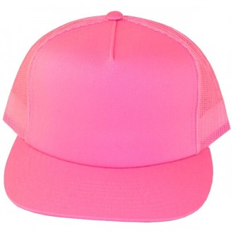 Casquette Filet Yupoong - Unie rose
