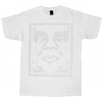 OBEY Basic T-Shirt - Dot Face - White