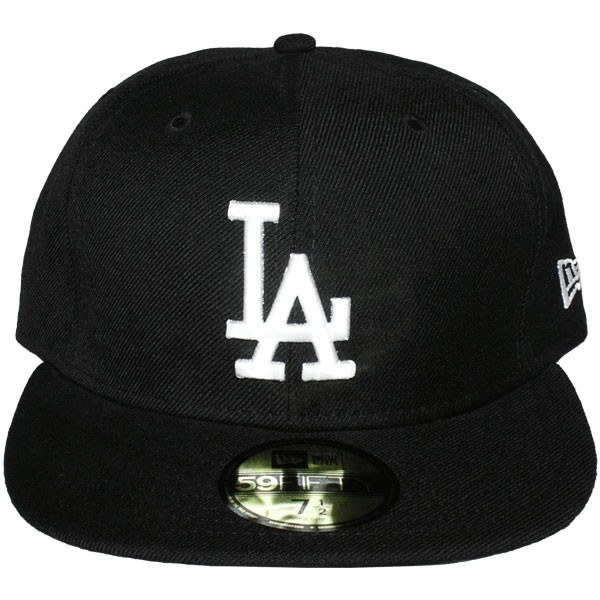 casquette fitted new era 59fifty mlb basic collection los angeles dodgers black white. Black Bedroom Furniture Sets. Home Design Ideas