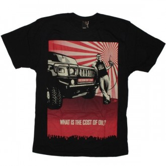 OBEY Organic T-Shirt - Cost Of Oil - Black