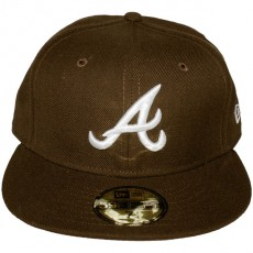 Casquette Fitted New Era - 59Fifty MLB Basic Collection - Atlanta Braves - Brown/White