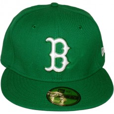 Casquette Fitted New Era - 59Fifty MLB Basic Collection - Boston Red Sox - Green/White