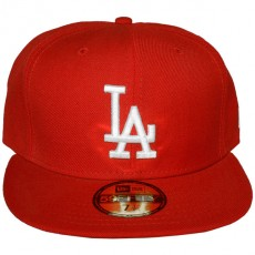 Casquette Fitted New Era - 59Fifty MLB Basic Collection - Los Angeles Dodgers - Red/White