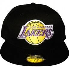 Casquette Fitted New Era - 59Fifty NBA Basic Collection - Los Angeles Lakers - Black