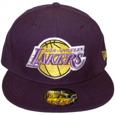 Casquette Fitted New Era - 59Fifty NBA Basic Collection - Los Angeles Lakers - Purple